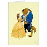 Danse de belle et de bête carte de vœux