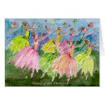 Danse de casse-noix des fleurs carte