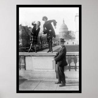 Danse de Charleston à Washington, dc 1925 Posters