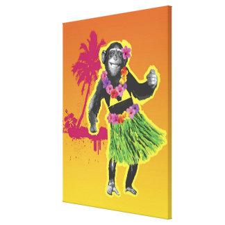 Danse de danse polynésienne de chimpanzé toiles