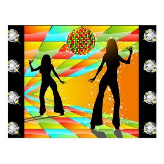 Danse de disco cartes postales
