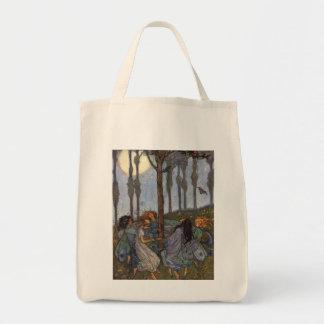 Danse de fées autour d'un arbre, sacs fourre-tout