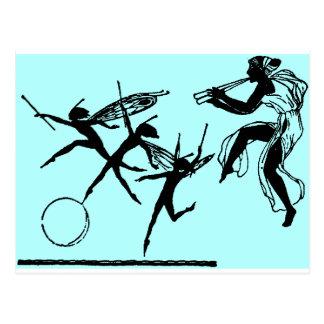 Danse de fées cartes postales