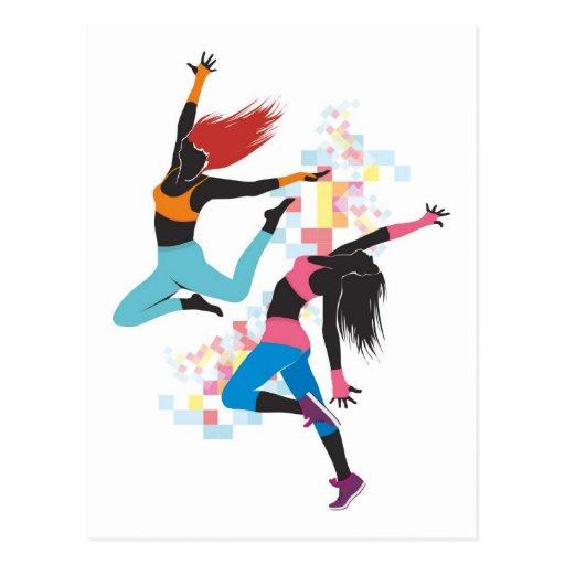 Danse de filles carte postale