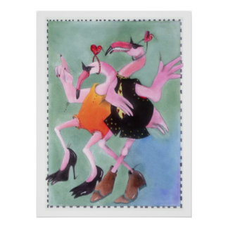 Danse de flamant affiches