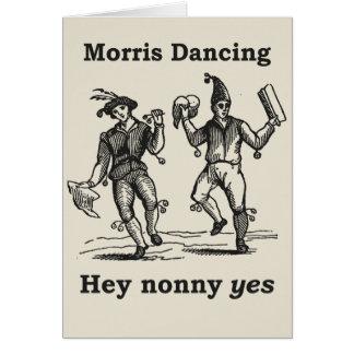 Danse de Morris - hé de Nonny carte OUI