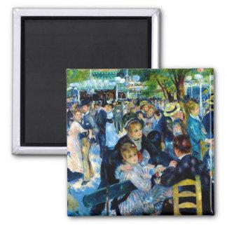 Danse de Nouveau d'art en parc français Renoir Magnet Carré
