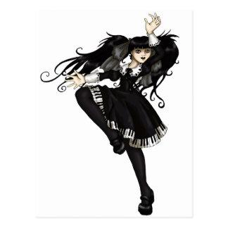 Danse de piano cartes postales