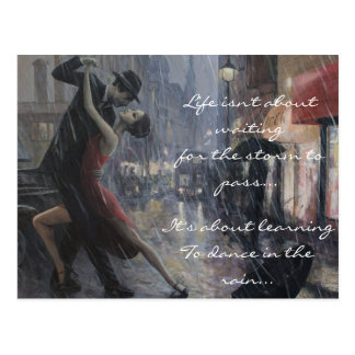 Danse de pluie carte postale