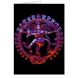 Danse de Shiva Nataraja Carte De Vœux