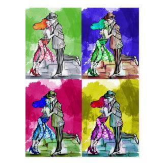 Danse de tango de bruit carte postale