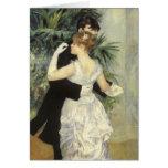 Danse de ville par Renoir, art vintage Carte De Vœux