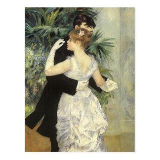 Danse de ville par Renoir, art vintage Cartes Postales