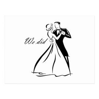 Danse démodée de couples de mariage cartes postales