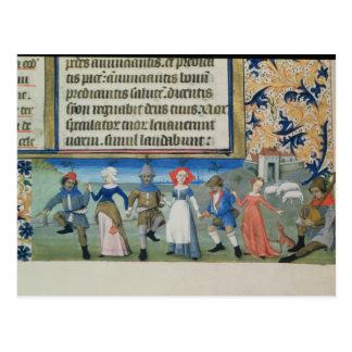 Danse des bergers carte postale