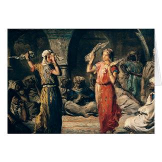 Danse des mouchoirs, 1849 carte de vœux
