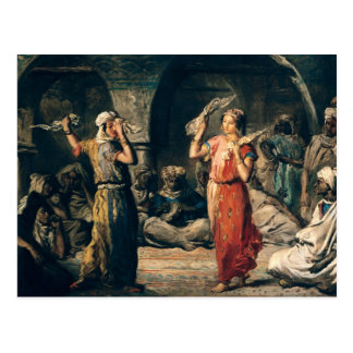 Danse des mouchoirs, 1849 carte postale