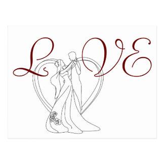Danse élégante de couples de mariage d'AMOUR avec Carte Postale