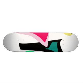Danse faite sur commande de couleur d'arrière - plateau de skate