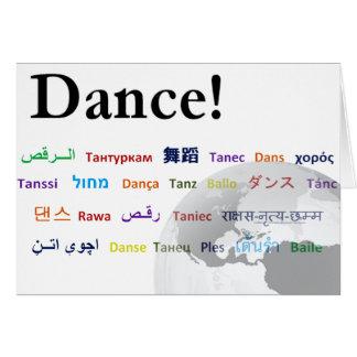 Danse globale - la langue globale cartes