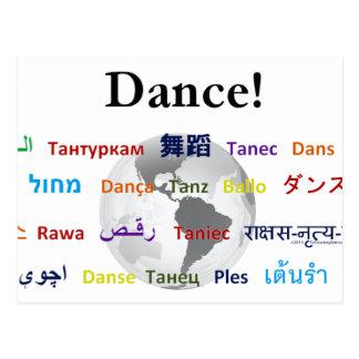 Danse globale - la langue globale cartes postales