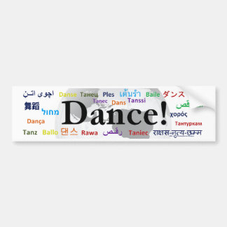 Danse globale - la langue globale (personnalisable autocollant de voiture