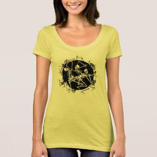 Danse macabre, tee-shirt femme col échancré t-shirt