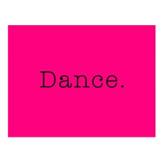Danse. Modèle au néon de citation de danse de rose Cartes Postales