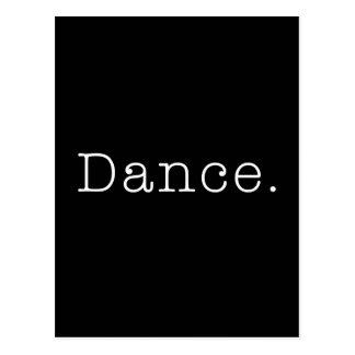 Danse. Modèle noir et blanc de citation de danse Carte Postale
