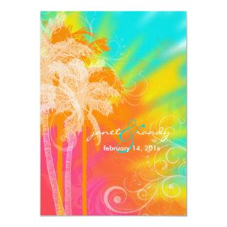 Danse polynésienne tropicale de PixDezines+remous Carton D'invitation 12,7 Cm X 17,78 Cm