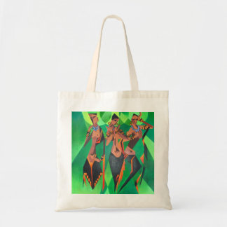 Danse traditionnelle ethnique de trois femmes de sac fourre-tout