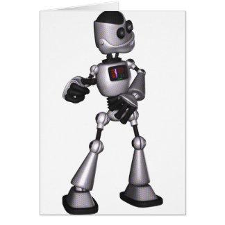 danse tramée de type de robot de la science carte de vœux