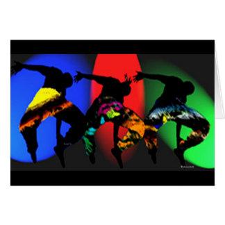 Danse tribale africaine cartes de vœux