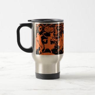 Danse vintage de sorcière de diable de Halloween Mug De Voyage