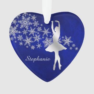 Danseur argenté bleu de flocon de neige