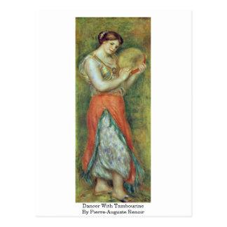 Danseur avec le tambour de basque par Pierre-Augus Carte Postale