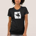 Danseur classique noir de silhouette t-shirt