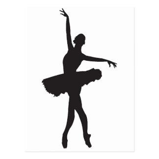 DANSEUR CLASSIQUE (silhouette de ballerine) ~.png Carte Postale