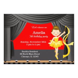 Danseur d'anniversaire carton d'invitation  12,7 cm x 17,78 cm