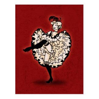 Danseur de cancan carte postale
