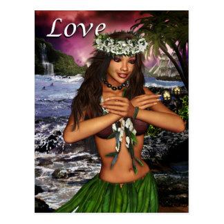 Danseur de danse polynésienne cartes postales