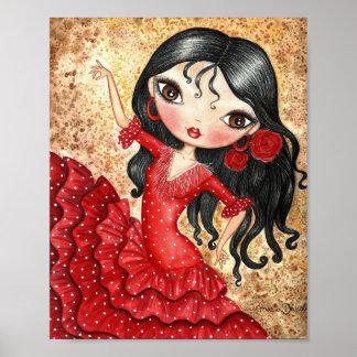 """""""Danseur de flamenco """" Affiche"""