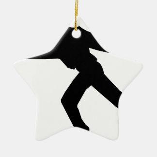 Danseur de patineur de glace ornement étoile en céramique