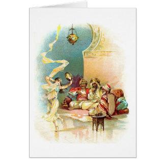 Danseur de sultan et de harem, carte