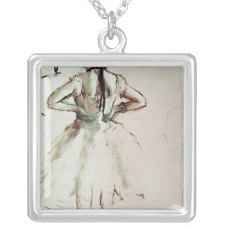 Danseur d'Edgar Degas   vu du dos Pendentif Carré