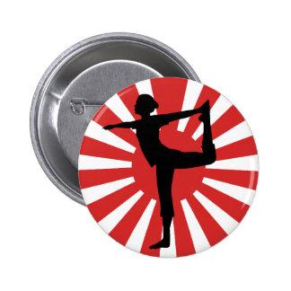 Danseur du yoga #1 de Soleil Levant Pin's
