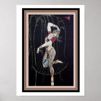 Danseur indien par George Barbier affiche 12 x 16 Poster