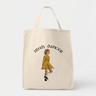 Danseur irlandais d'étape - robe d'or sacs en toile