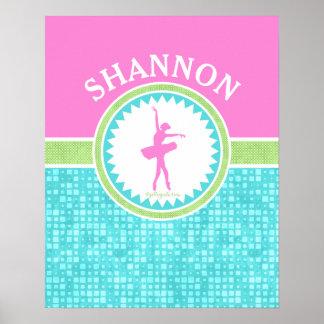 Danseur Tri En pastel de couleur avec la tuile Posters