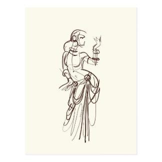 danseur tribal de gitan de fusion carte postale